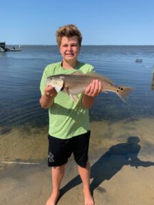 Red drum fishing on outer banks