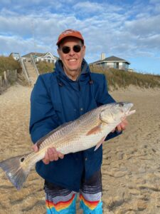 Red drum along OBX beaches